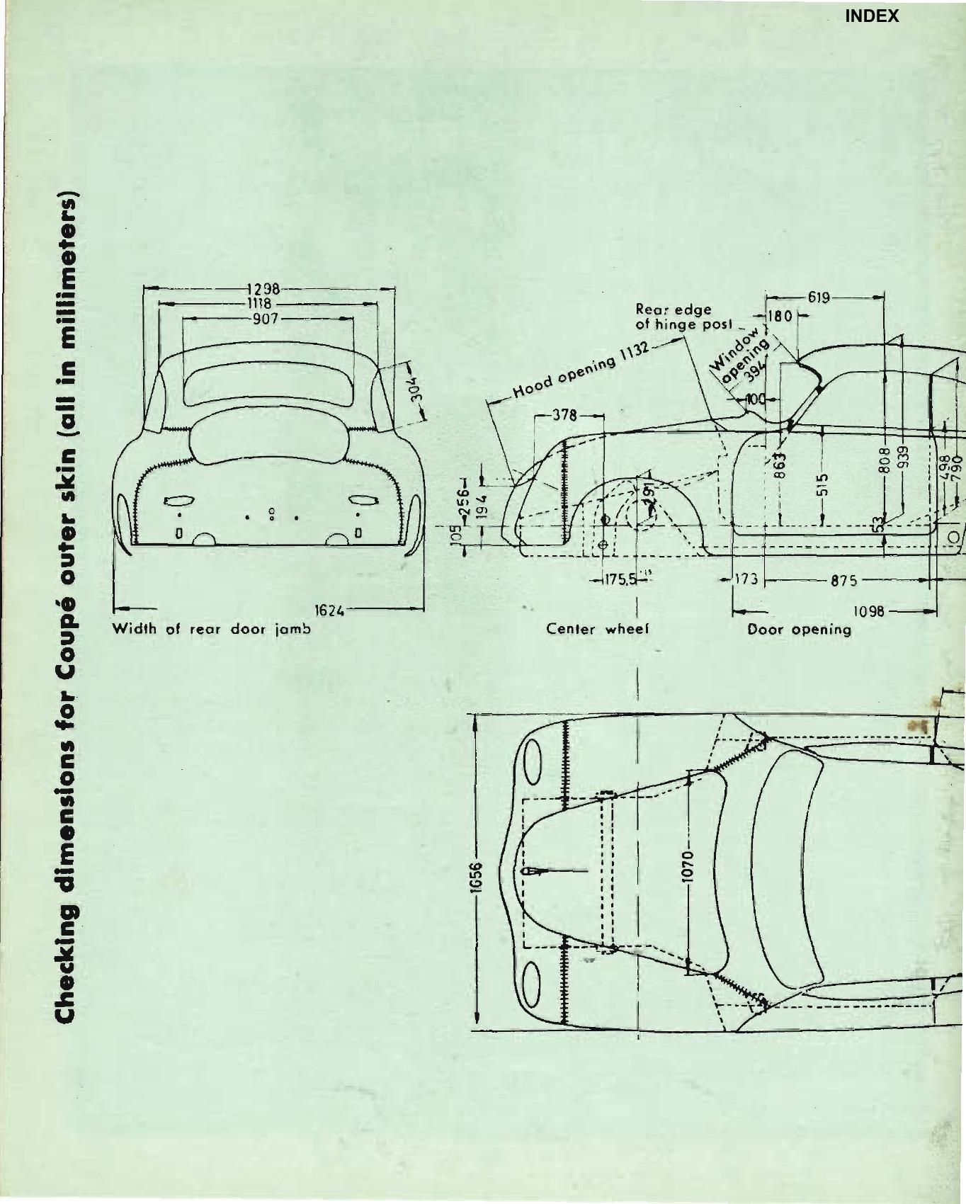Porsche 356a Body Dimensions 356 Registry Mag Porsche